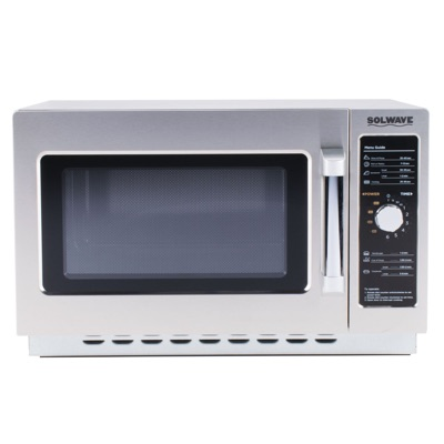 Solwave Stainless Steel Commercial Microwave with Dial Control