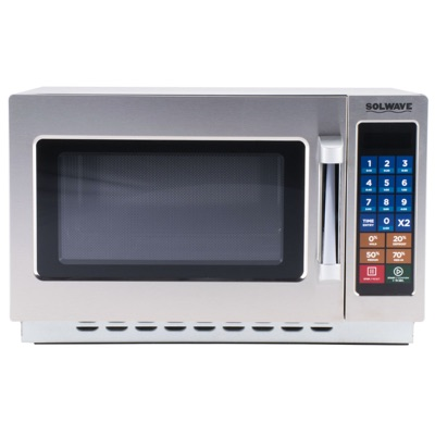 Solwave Stackable Commercial Microwave with Push Button Controls