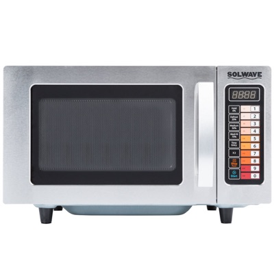 Solwave Stainless Steel Commercial Microwave with Push Button Controls